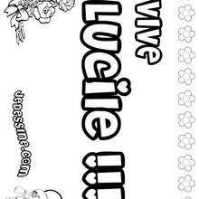 Lucile - Coloriage - Coloriage PRENOMS - Coloriage PRENOMS LETTRE L