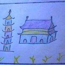 Dessin d'enfant : Ma maison en Chine