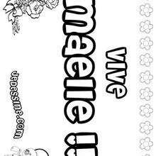 Maelle - Coloriage - Coloriage PRENOMS - Coloriage PRENOMS LETTRE M