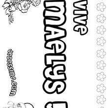 Maelys - Coloriage - Coloriage PRENOMS - Coloriage PRENOMS LETTRE M