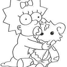 Coloriage de Maggie - Coloriage - Coloriage DESSINS ANIMES - Coloriage SIMPSON - Coloriage MAGGIE SIMPSON