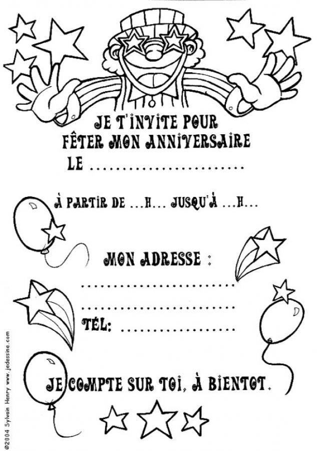 Coloriages coloriage d 39 un magicien - Dessin invitation ...