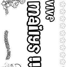 Mailys - Coloriage - Coloriage PRENOMS - Coloriage PRENOMS LETTRE M