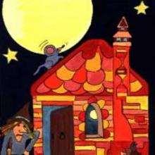 Dessin d'enfant : Maison de sorcière