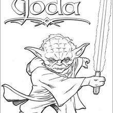 Coloriage STAR WARS de Maitre Jedi - Coloriage - Coloriage FILMS POUR ENFANTS - Coloriage STAR WARS - Coloriage JEDI