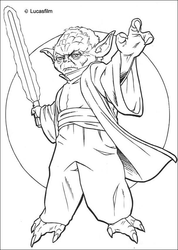 Coloriages coloriage star wars de ma tre yoda - Yoda coloriage ...