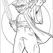 Coloriages Coloriage Star Wars De Maitre Yoda Fr Hellokids Com