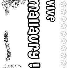 Mallaury - Coloriage - Coloriage PRENOMS - Coloriage PRENOMS LETTRE M