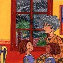Mamie et enfants - Dessin - Dessin PERSONNAGE - Dessin ENFANT