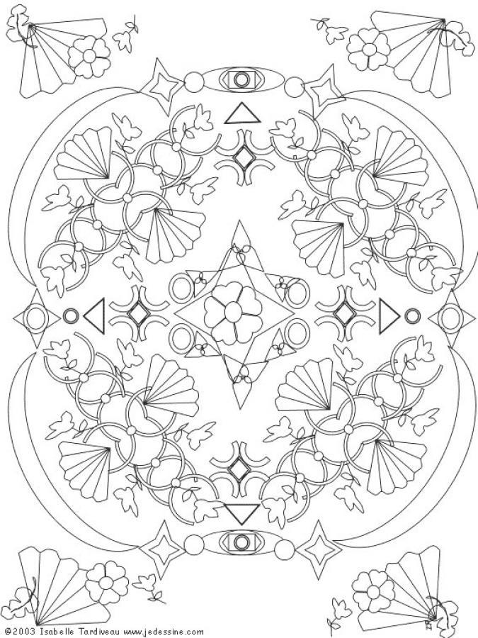 Mandala à colorier n°10