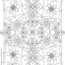 MANDALAS à colorier n°4 - Coloriage - Coloriage MANDALA - MANDALAS à colorier
