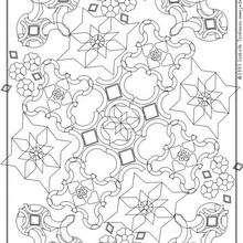 MANDALAS à colorier n°8 - Coloriage - Coloriage MANDALA - MANDALAS à colorier