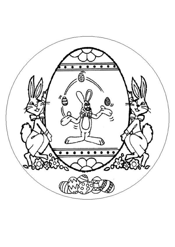 Coloriages coloriage de mandala lapin de p ques fr - Mandala lapin ...