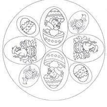 Coloriage Mandala Oeuf De Paques.Coloriages Coloriage De Mandala Oeufs De Paques Fr Hellokids Com