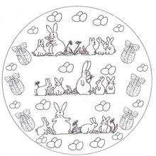 Coloriage de Mandala Pâques