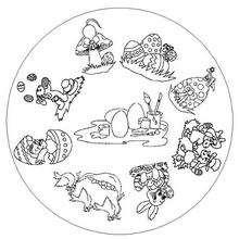 Coloriage de Mandala pour Pâques