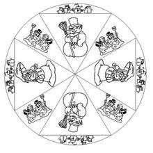 Coloriage de Mandala N°111