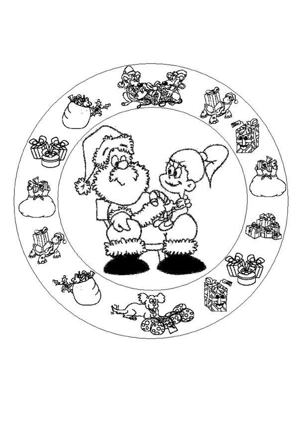 MANDALAS de Noël - Coloriages - Coloriage à imprimer gratuit - fr ...