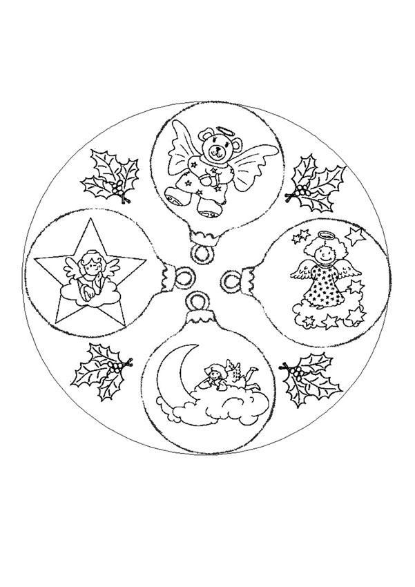 Coloriages mandala des anges - Mandalas noel ...