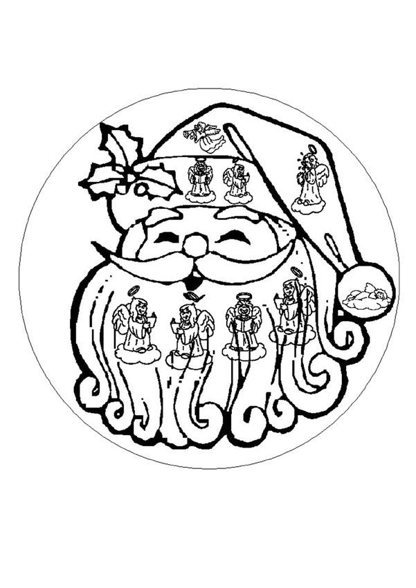 Coloriages mandala du p re no l - Coloriage mandala de noel ...