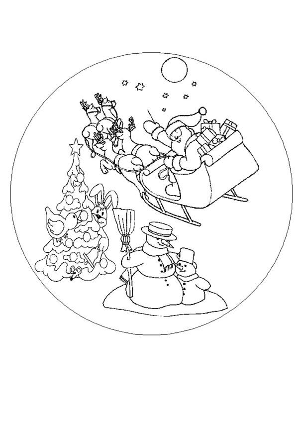 Coloriages coloriage de mandala de no l - Coloriage mandala noel ...