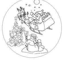 Coloriage de Mandala De Noël - Coloriage - Coloriage MANDALA - MANDALAS de Noël