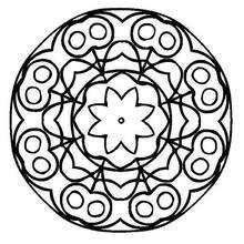 Coloriage de Mandala N°127 - Coloriage - Coloriage MANDALA