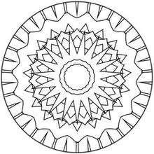Coloriage de Mandala N°134 - Coloriage - Coloriage MANDALA
