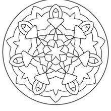 Coloriage de Mandala N°135 - Coloriage - Coloriage MANDALA