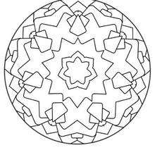 Coloriage de Mandala N°136 - Coloriage - Coloriage MANDALA