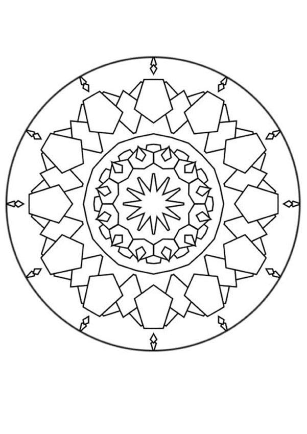 Coloriage de Mandala N°138