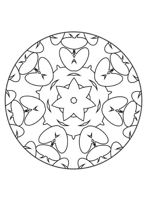 Coloriage de Mandala N°139