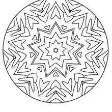 D'où viennent les Mandala ? - Coloriage - Coloriage MANDALA