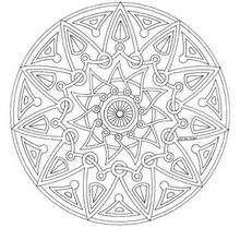 C'est quoi un Mandala ? - Coloriage - Coloriage MANDALA