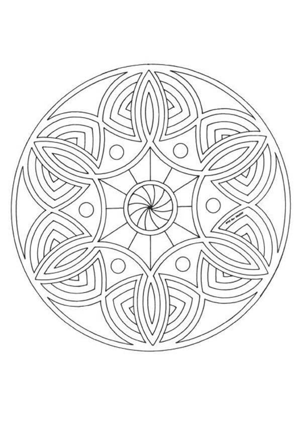 Coloriage A Imprimer De Mandala.Coloriages Mandala Fr Hellokids Com