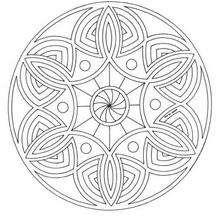 Coloriage à imprimer Mandala - Coloriage - Coloriage MANDALA