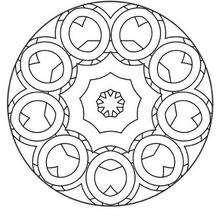 Imprimer un Mandala - Coloriage - Coloriage MANDALA