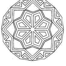 Dessiner un Mandala - Coloriage - Coloriage MANDALA
