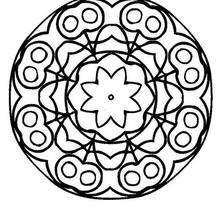 Mandala à imprimer - Coloriage - Coloriage MANDALA