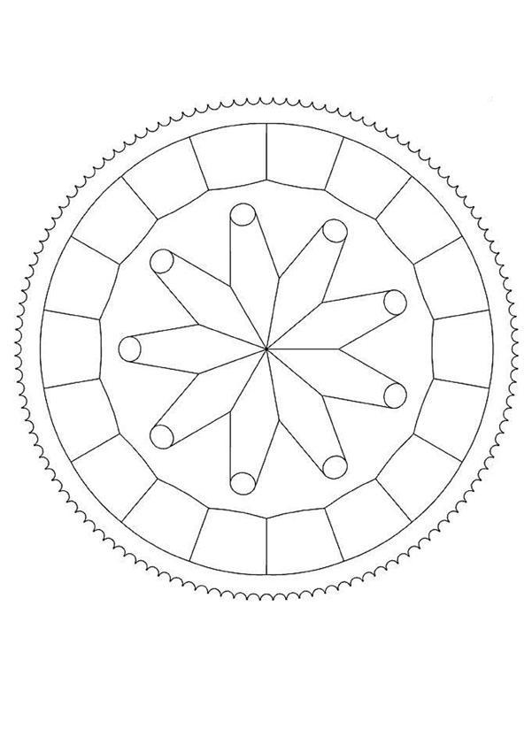 Mandala à dessiner en ligne
