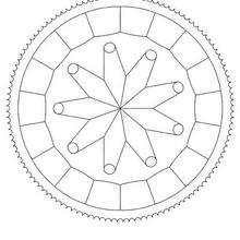 Mandala à dessiner en ligne - Coloriage - Coloriage MANDALA