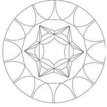 Mandala à colorier en ligne - Coloriage - Coloriage MANDALA