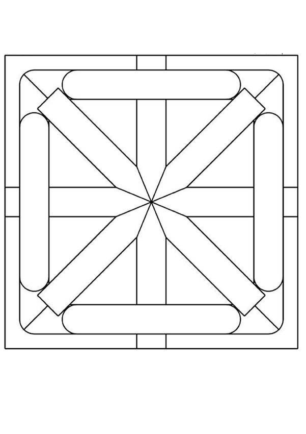 Mandala à dessiner