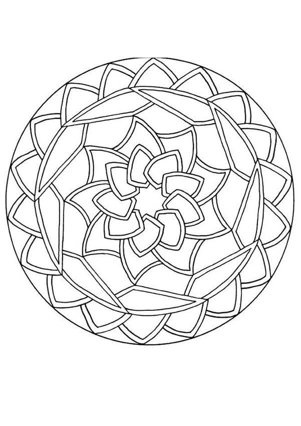 Coloriage de Mandala N°152