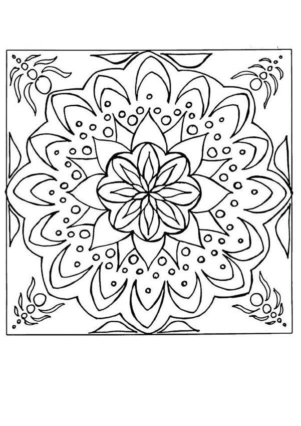 Coloriage à imprimer de Mandala