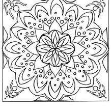 Coloriage à imprimer de Mandala - Coloriage - Coloriage MANDALA