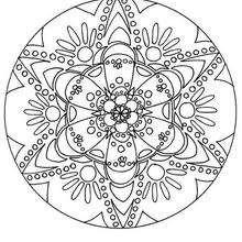 Jeux De Coloriage En Ligne Mandala.Coloriages Coloriage En Ligne Mandala Fr Hellokids Com