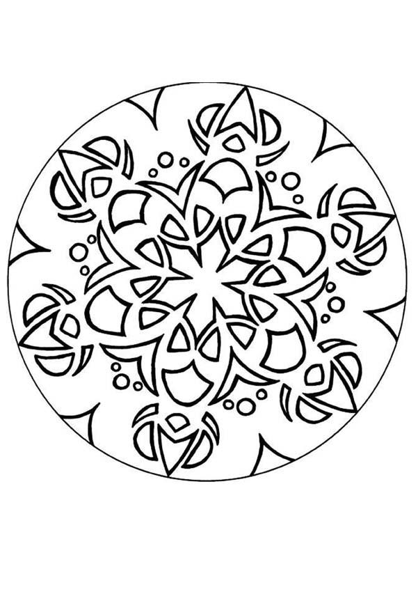 Coloriage de Mandala N°157
