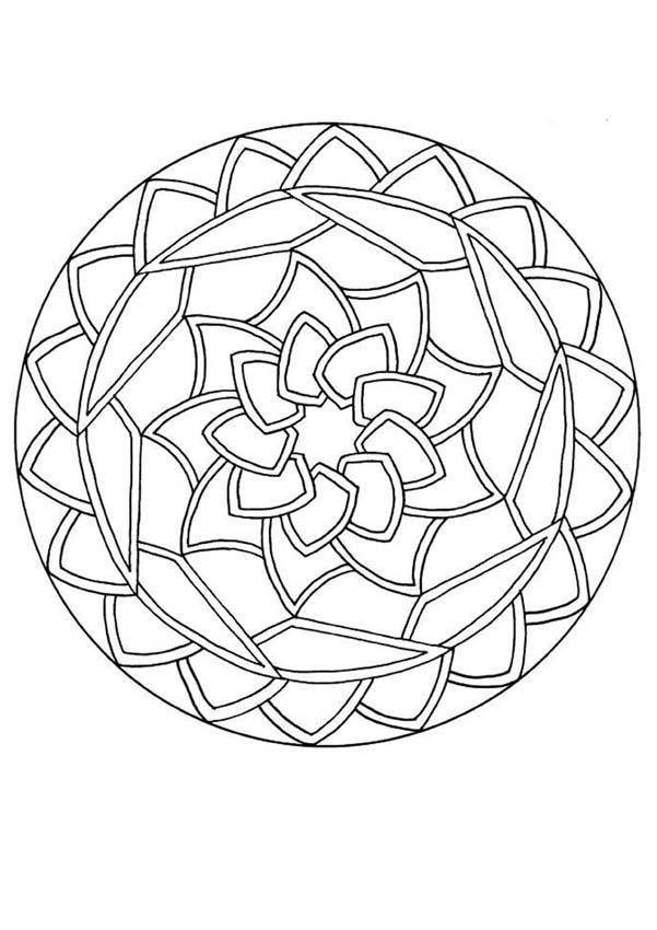 Coloriages coloriage en ligne mandala - Imprimer coloriage mandala ...