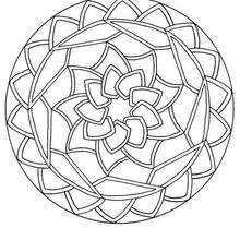 Coloriage en ligne Mandala